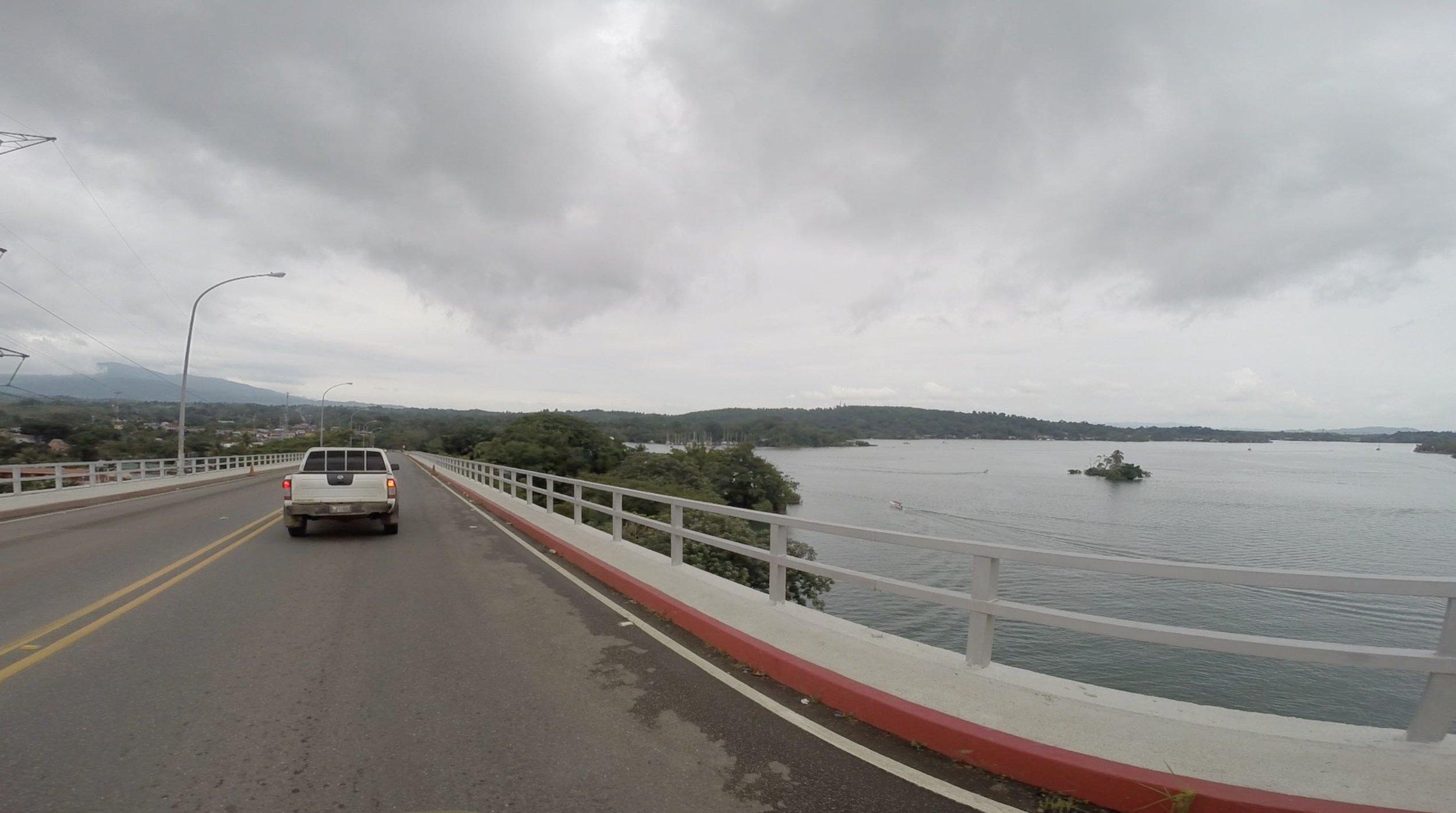 The bridge over Rio Dulce