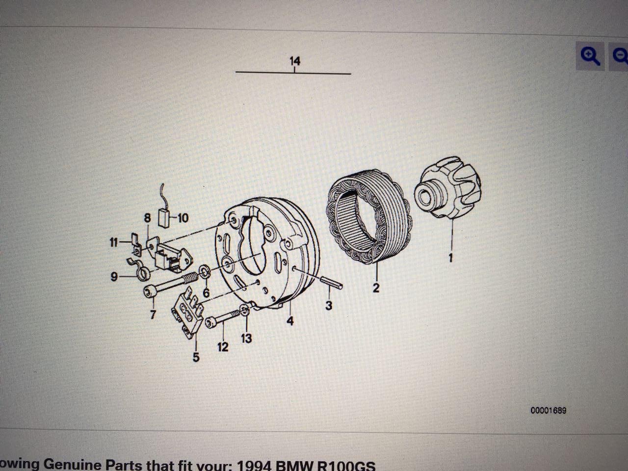 BMW parts list - alternator
