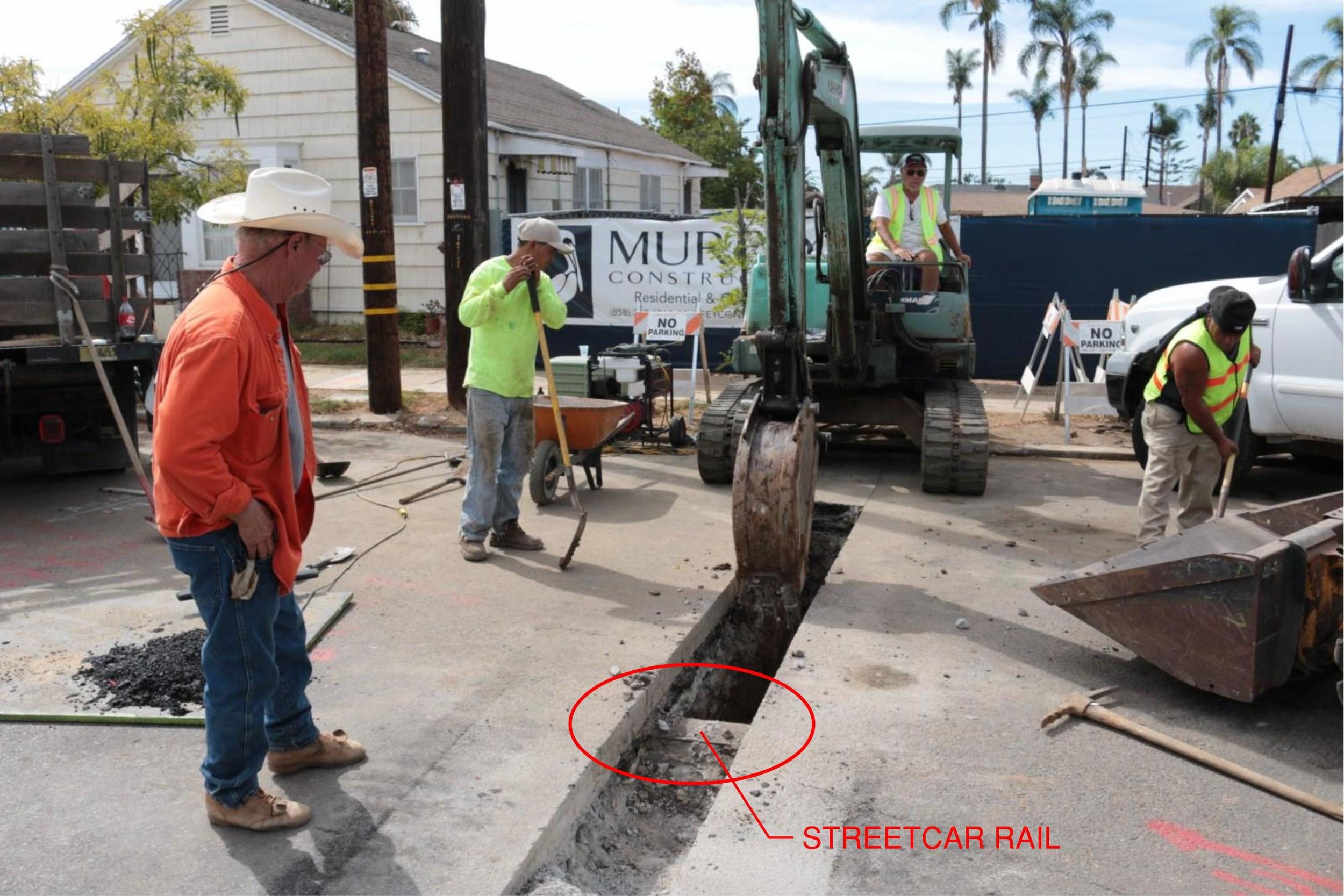 October 8th (Day 21) - Trenching for the Domestic Water Service