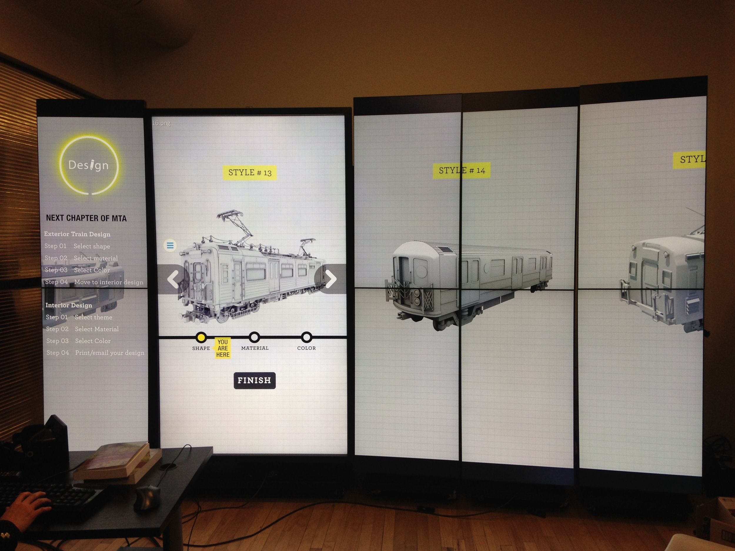 Choose different kind of subway's model. Start to design the subway.