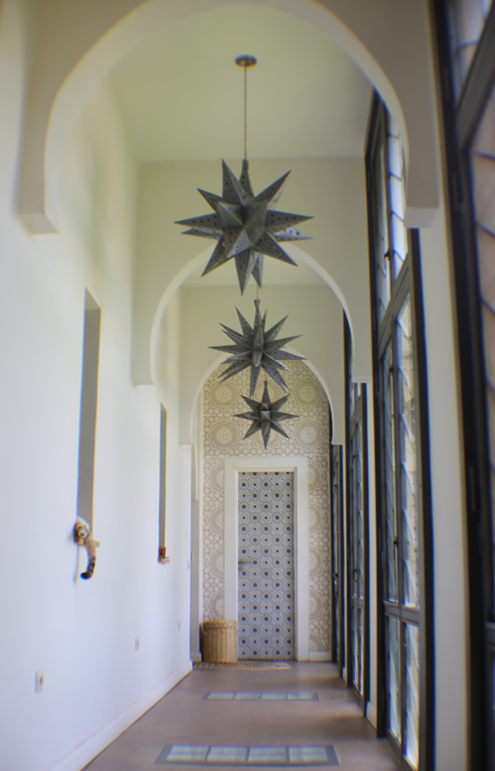 M.Montague - Tribal Chic for the Modern Nomad - Moroccan hallway, Peacock Pavilions, Marrakech, Morocco