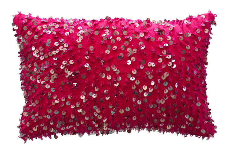 M.Montague Souk hot pink sequinned cushion.jpg
