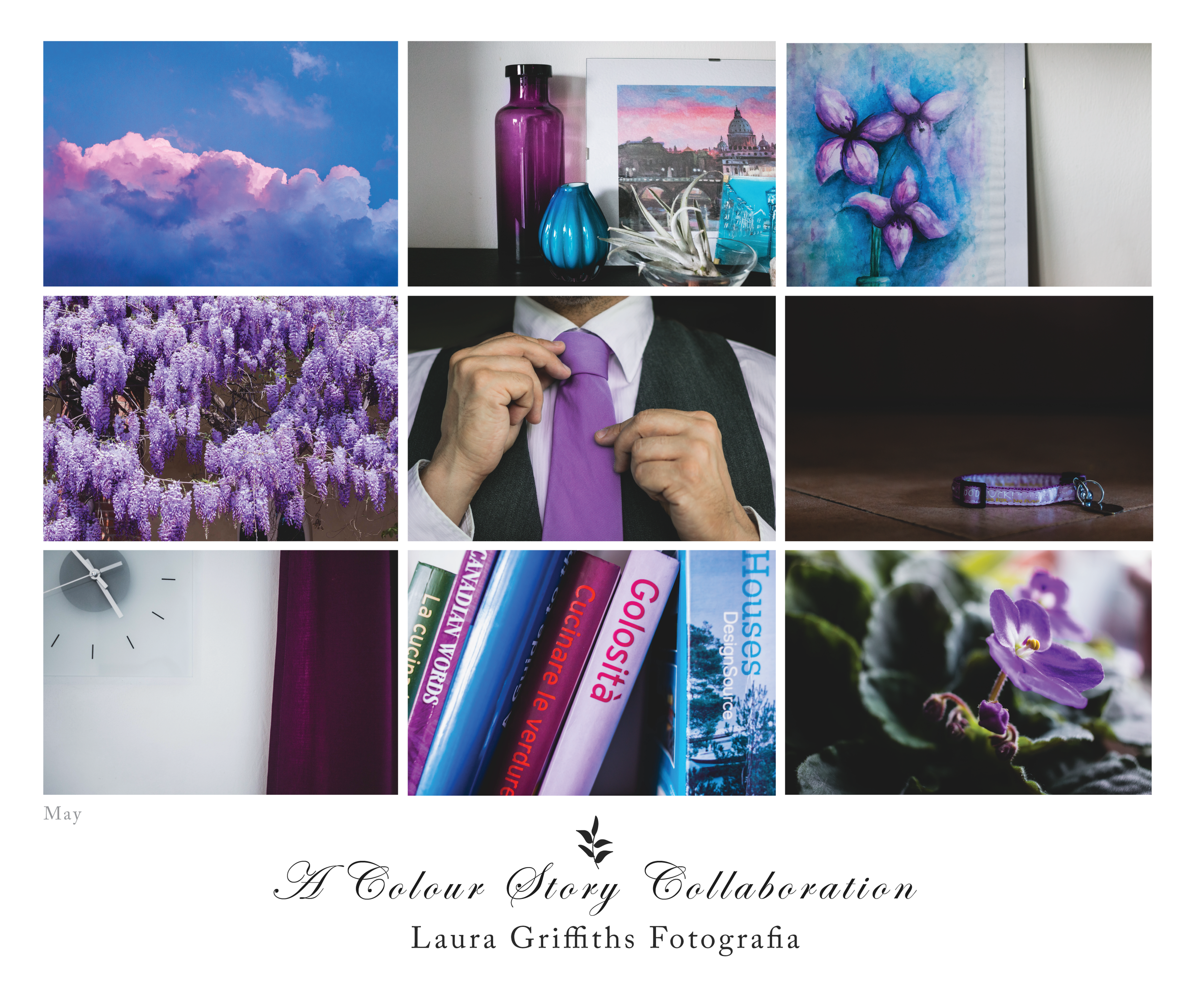 Color Story Collaboration Laura Griffiths Fotografia Torino Italia May Purple
