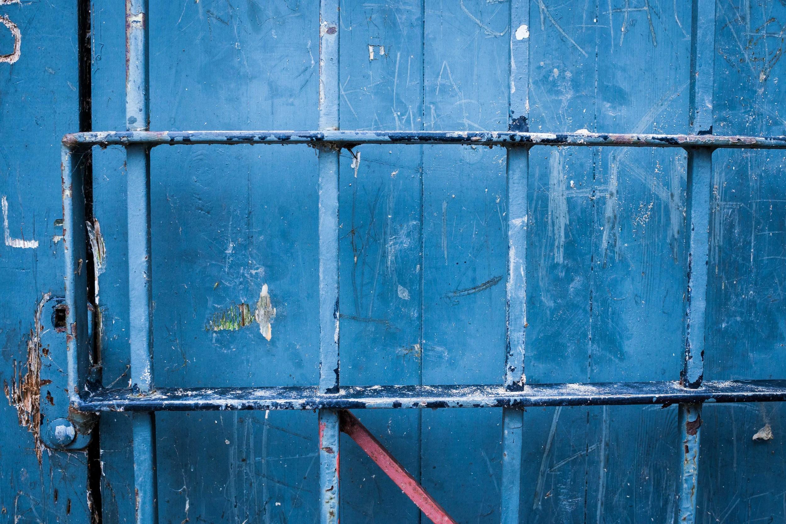 Blue door Fotografia