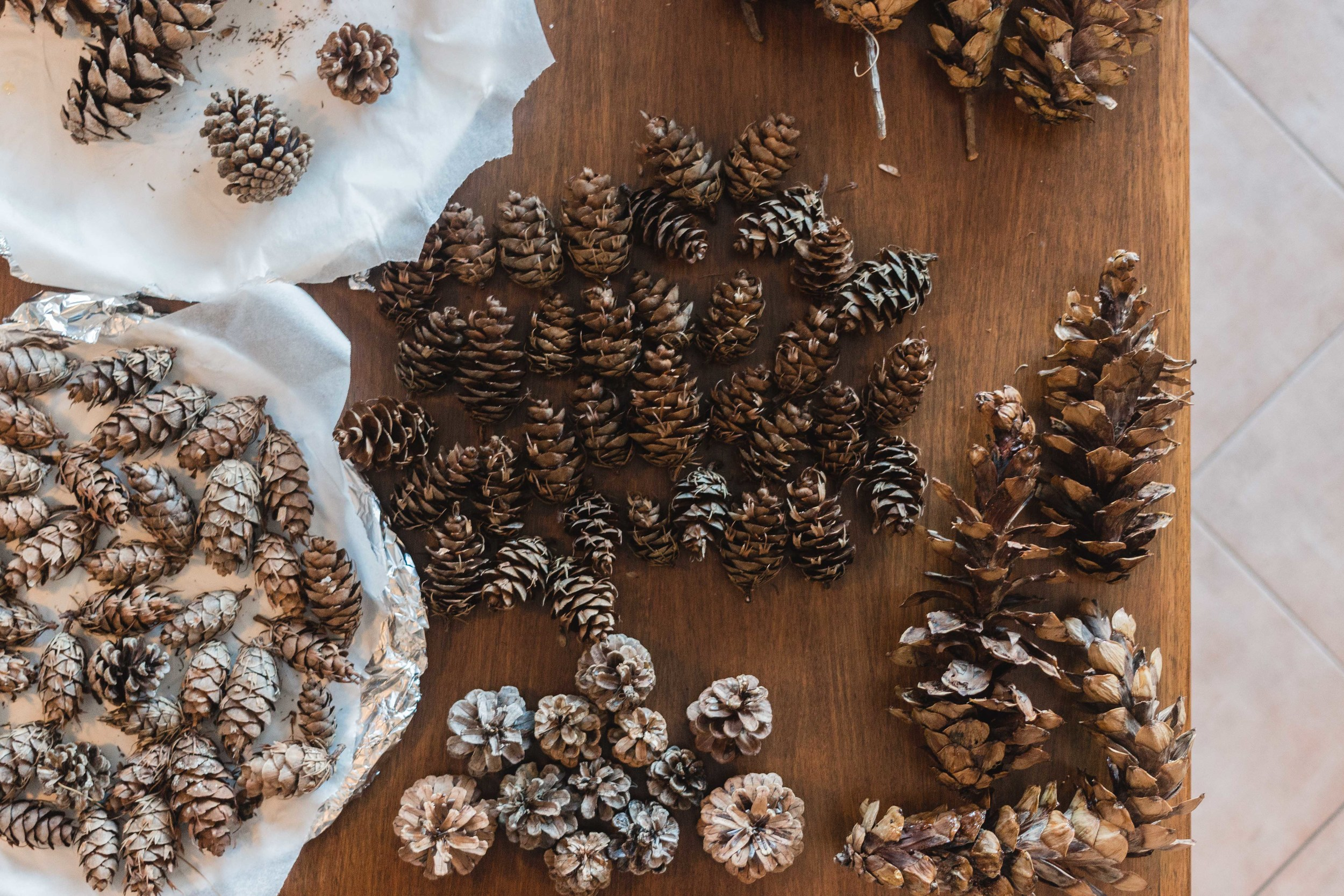 Pinecone Holiday DIY Easy Homemade Ornaments per natale