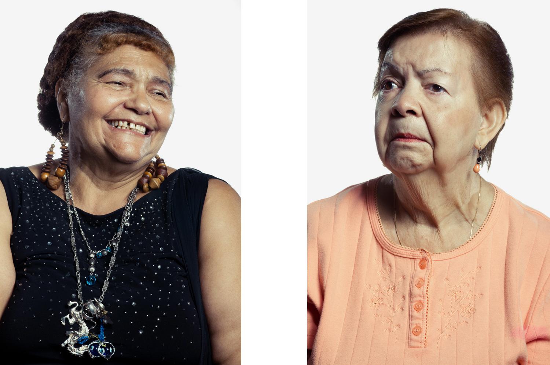 Portrait of two elderly women