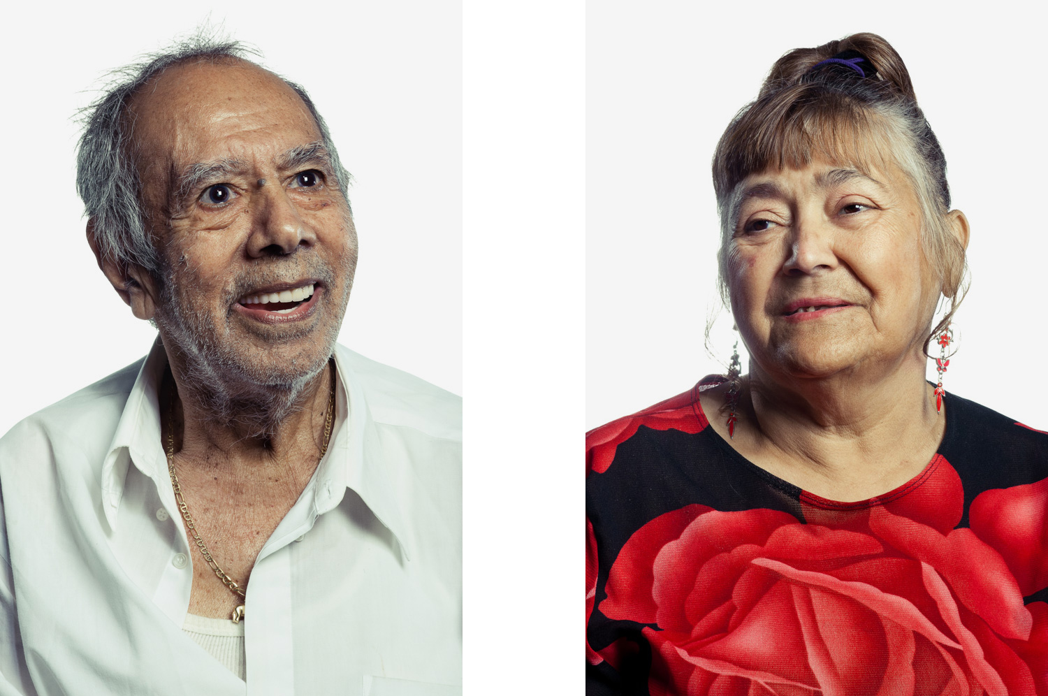Portrait of elderly man and woman
