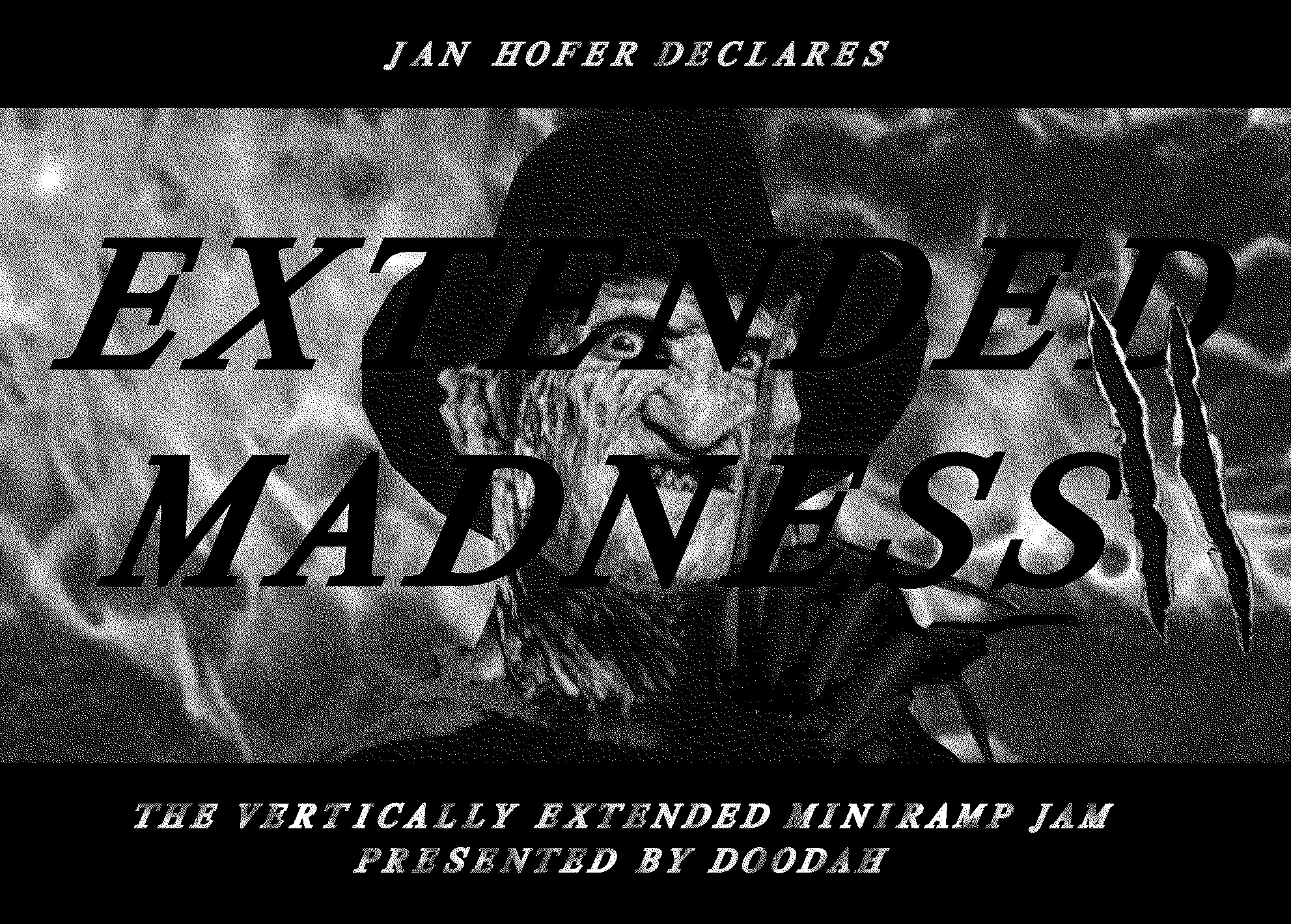 A Night of Drinks, Music and Vertically Extended Miniramp Shredding.  From 5pm SKATE SESSION  At 8pm EXTENDED MADNESS with Cash for Tricks and loud live music by The Destroyer Band  After 9pm OPEN MINIRAMP AND GOOD VIBES  Proudly supported by:  Official Caps by  http://www.illumate.ch/  Thunder Trucks  http://www.thundertrucks.com/
