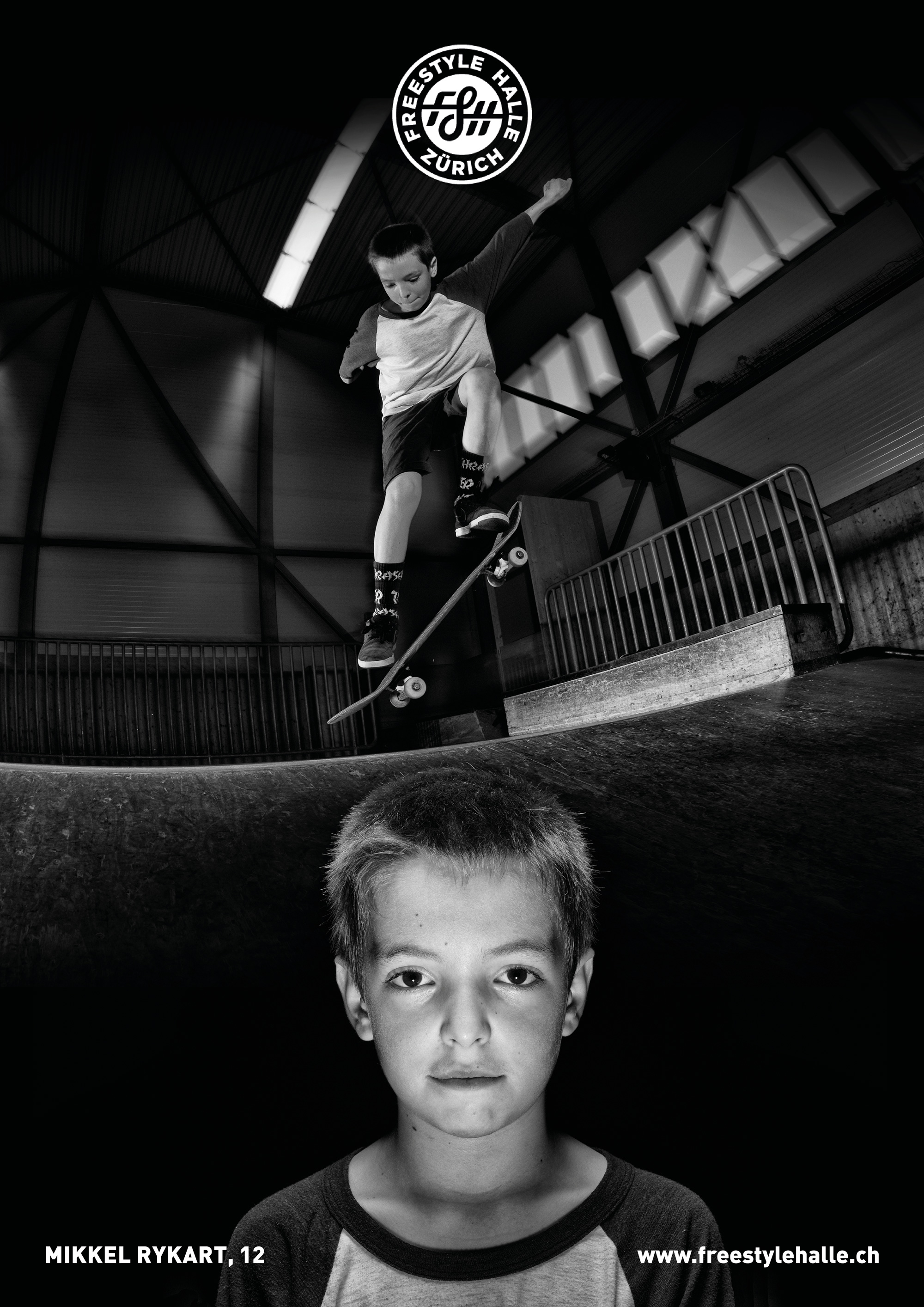 """""""LOCAL""""  fotoseries by 📸@peterrauch  featuring the creatures of the freestylehalle biotope- today:  name  mikkel rykart  how old are you? wie alt bist du?  12  at what age did you start skating? in welchem alter bist du das erste mal geskatet?  9  where are you from? woher kommst du?  swiss, denmark  what do you get out of skating? was gibt dir skaten?  lots of nice people and new friends  vil netti lüt und neui kollege  are you member of a skate crew? bist du in einer crew?  jes, shredders!  favorit trick? lieblings trick?  shove it and fakie bigspins    #freestylehalle #fshzh #local #zurich #skateboarding #biodiverisityofskateboarding"""