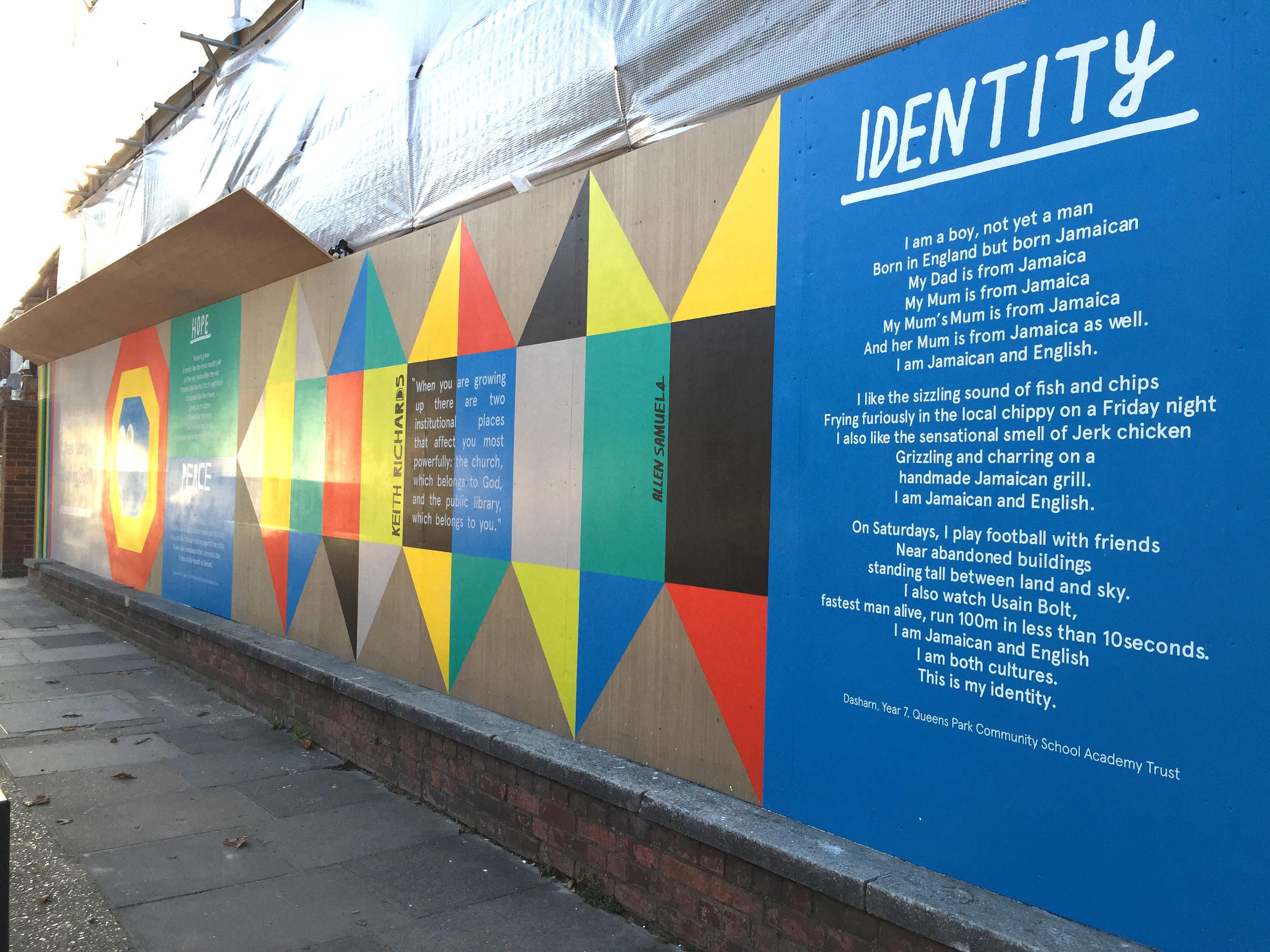 The Hoarding outside Kensal Rise Library by Alex Green