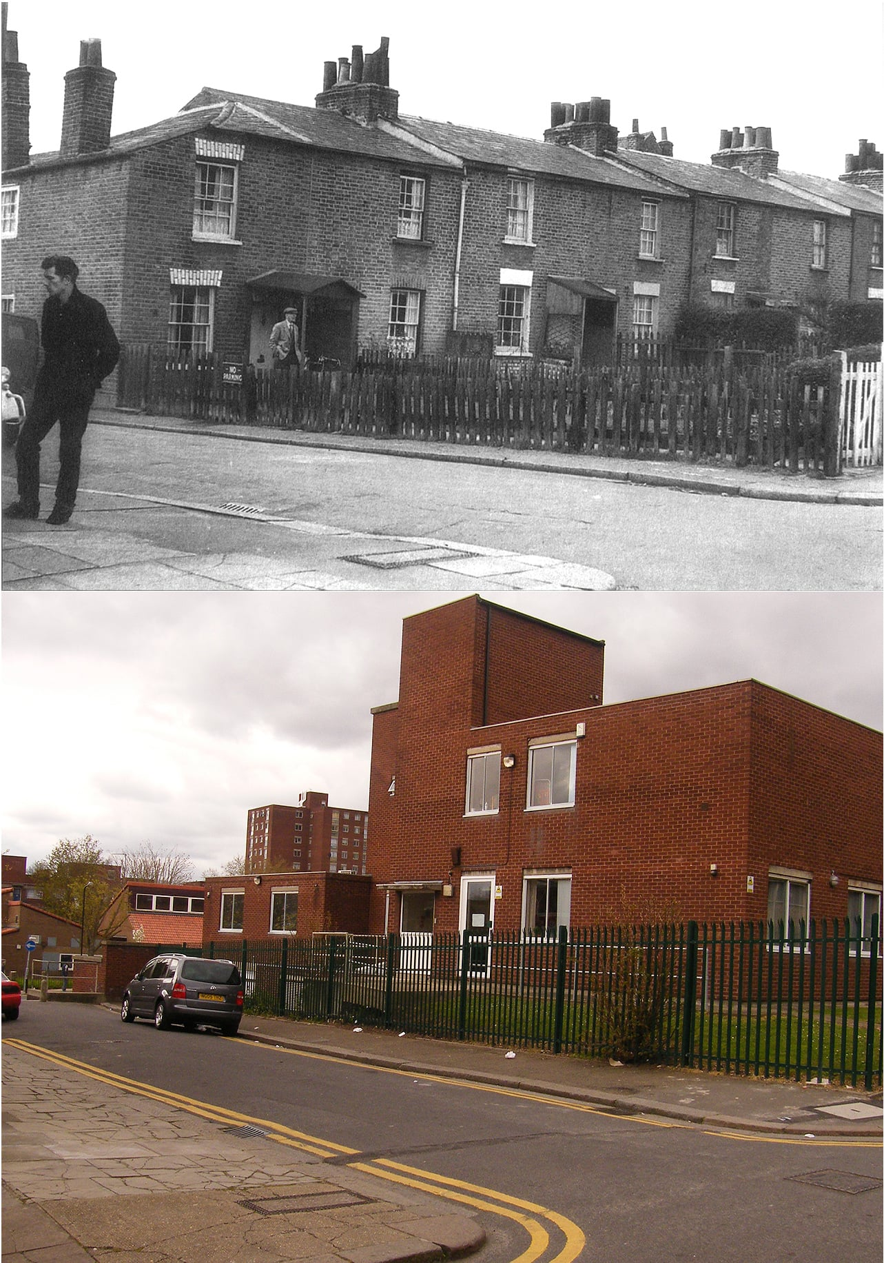 Oldham Terrace, Acton. 1961 and 2012. With thanks to  'Smart Set' on Flickr
