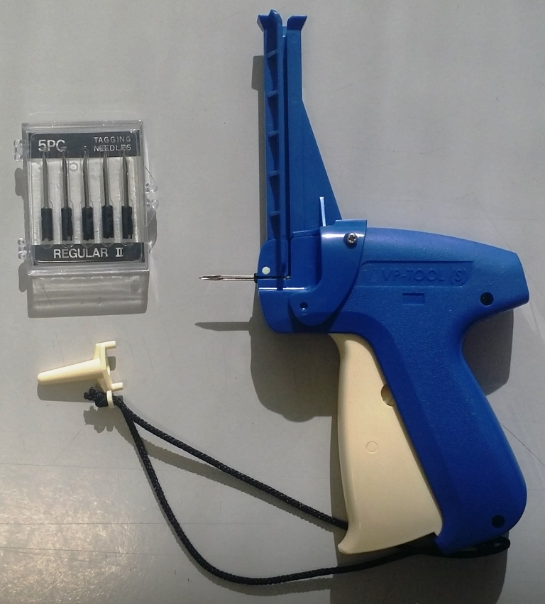 Hallprint's new VP-S tagging gun for TBA tags with all stainless parts. quick release button and pin guide