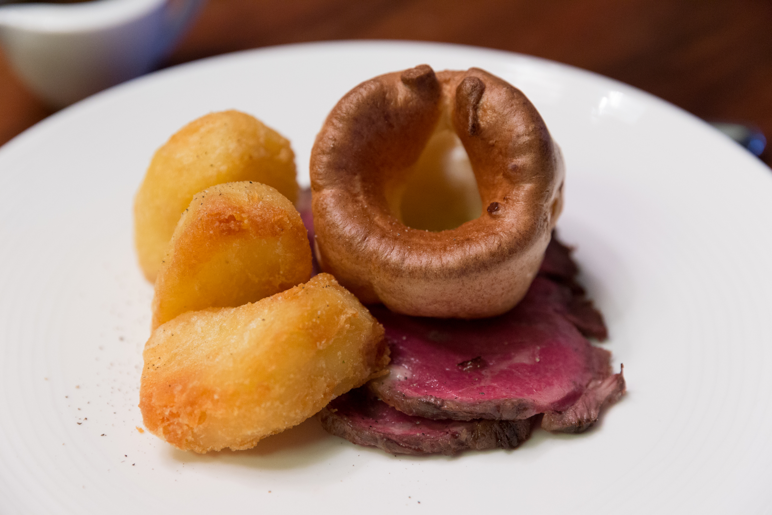Roast Sirloin of Dry Aged Beef with Yorkshire Pudding