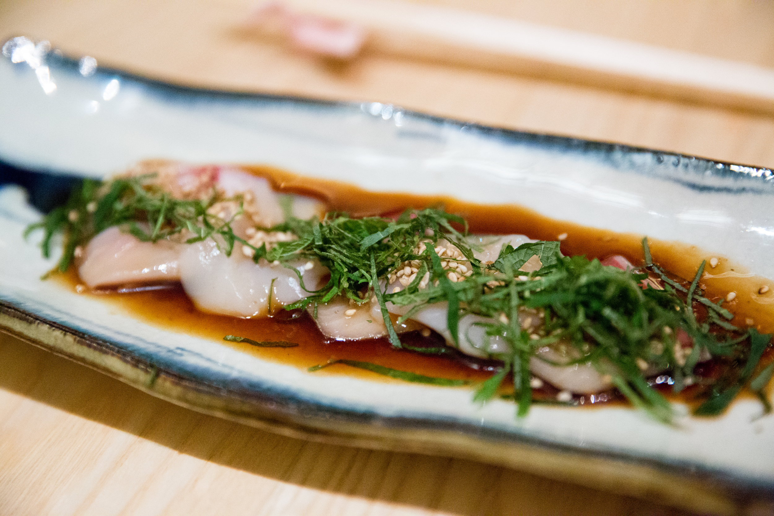 Hotate & Yellow Tail Japanese C  arpaccio S  tyle