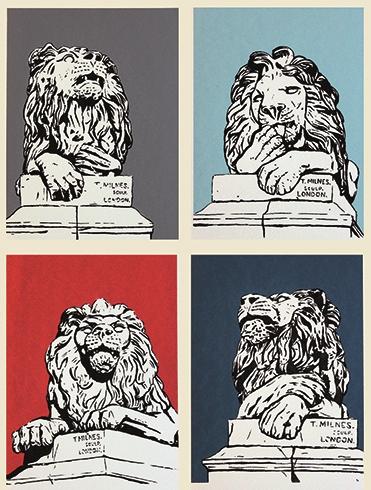 Determination, Peace, Vigilance, War (clockwise from top left)