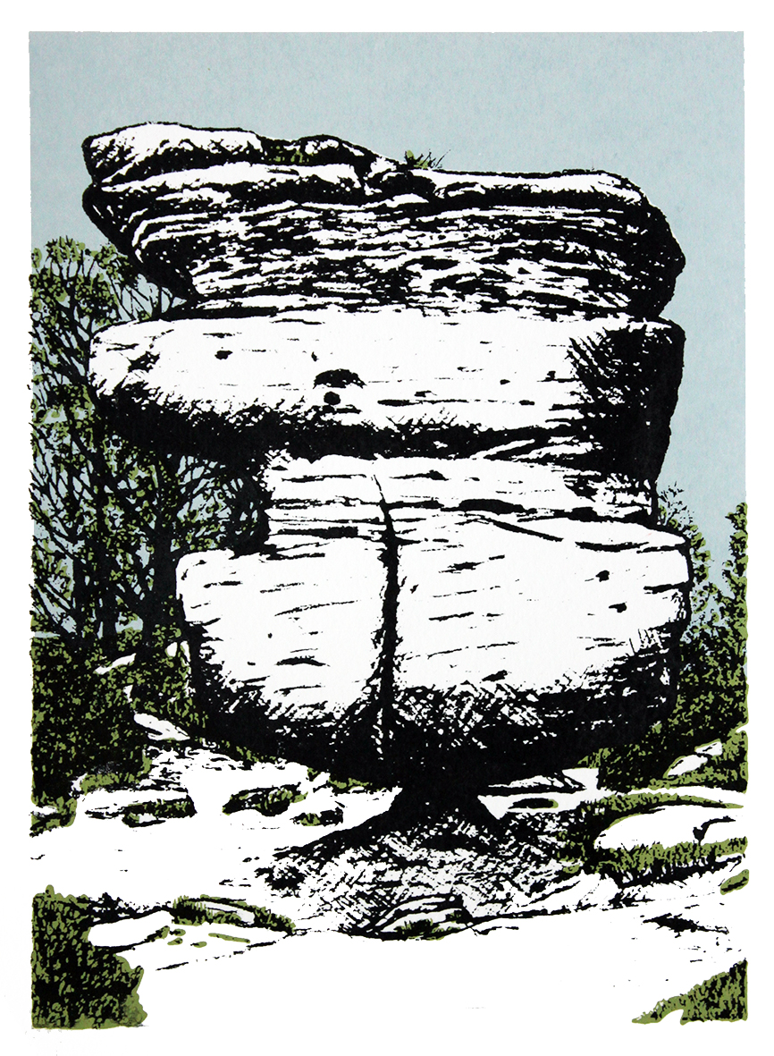 The Balancing Idol Stone (Brimham Rocks)