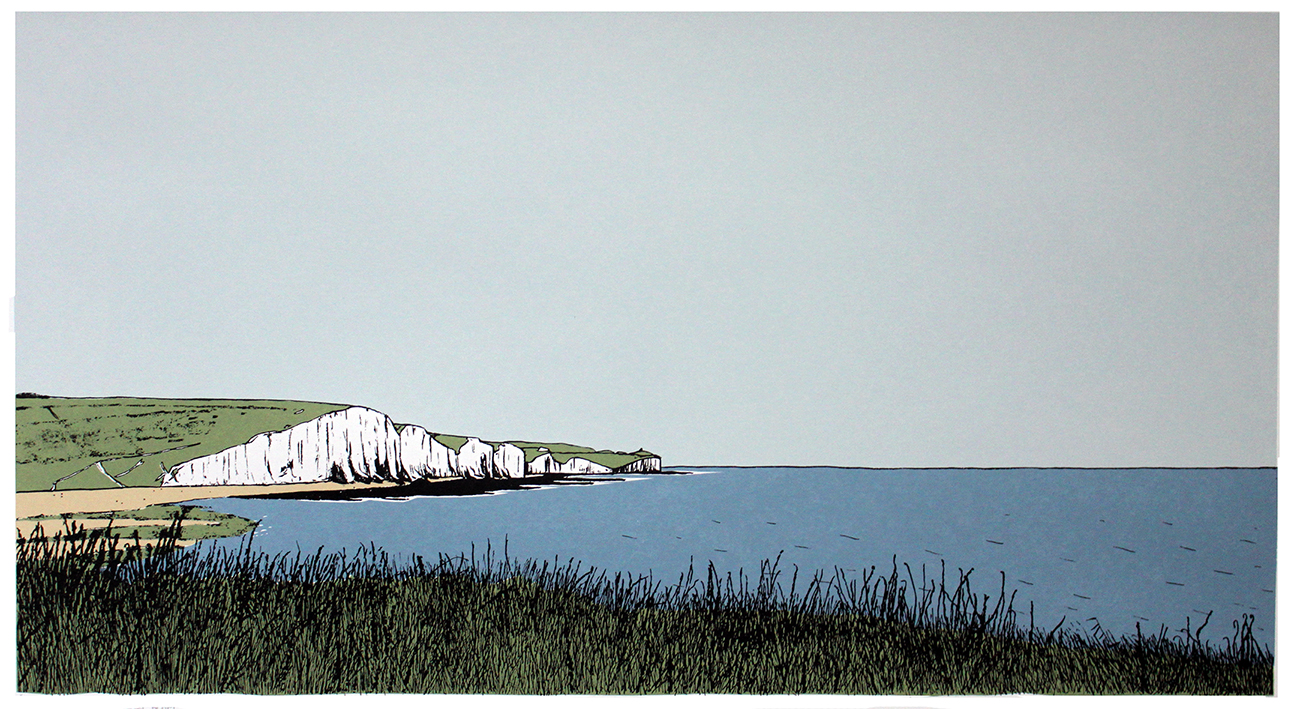 THe Seven Sisters from Seaford Cliffs
