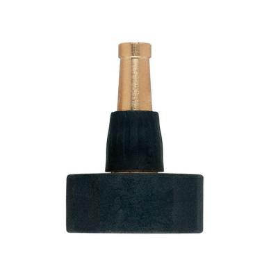 Nozzle. Durable. Fine stream. Haven't broken one yet. This tool is a must-have. Clears downspouts, flushes gutters, cleans up anything.