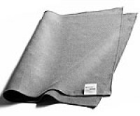 Mystic Maid Microfiber Cleaning cloth. Great for cleaning small french-style panes. Use with hot water and white vinegar or mild dish soap. Wring it out really well and wipe. Click for link to the cheapest place we've found them.