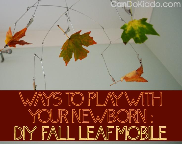 fall sensory play newborn baby nursery mobile