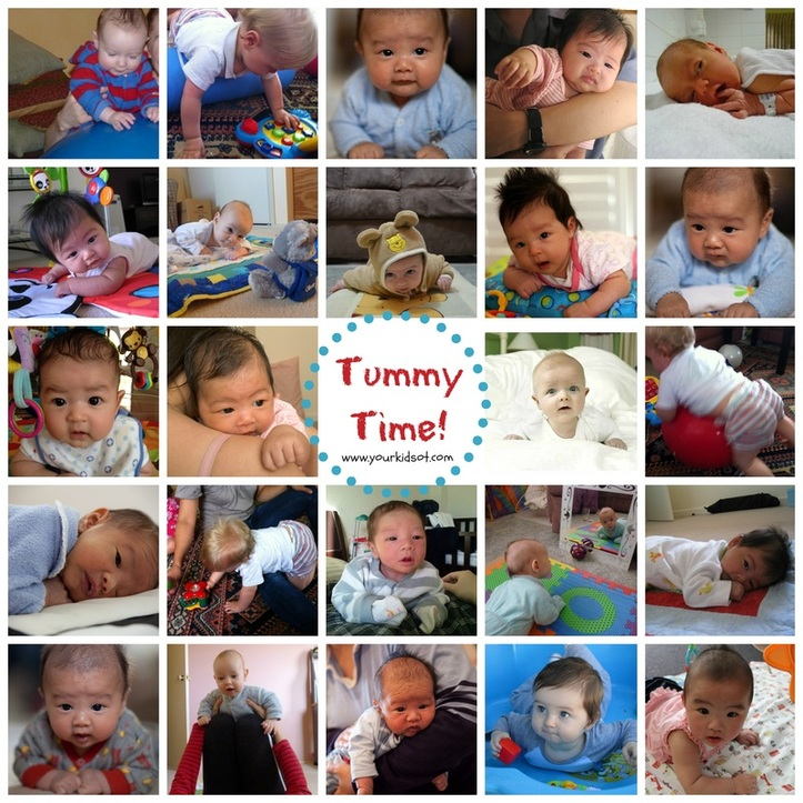 Tummy Time Collage YourKidsOT