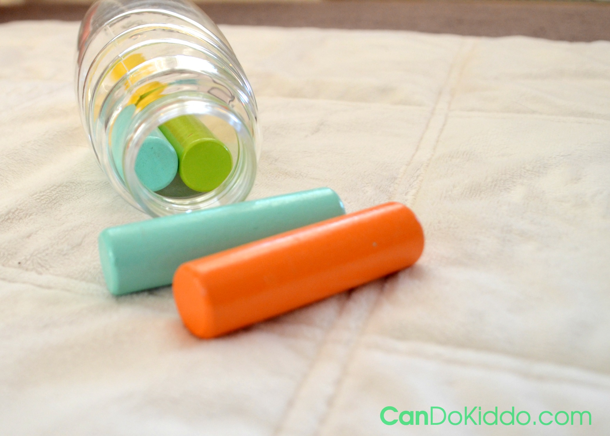 DIY shape sorter for baby. Creative play to keep baby busy and learning.