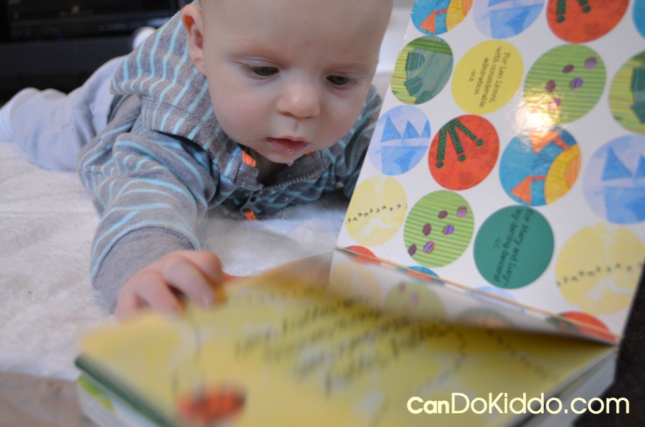 Board Book Hack to help baby turn pages. Floortime play ideas from CanDo Kiddo