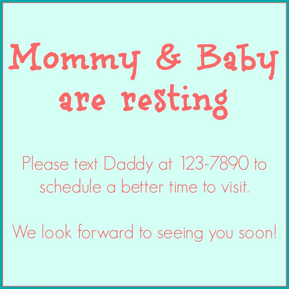 New Baby Sign for the front door.  blogpost - My Biggest Birth Plan Regret
