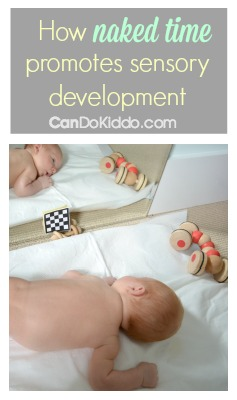 Naked playtime for babies - great for sensory development. CanDo Kiddo