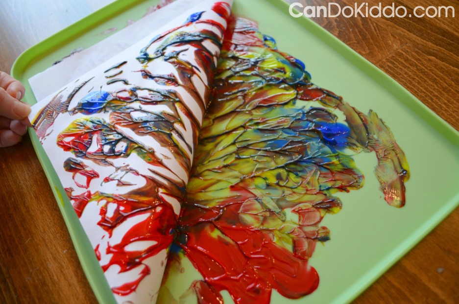 Finger painting Without Paper - Saving Artwork. CanDo Kiddo
