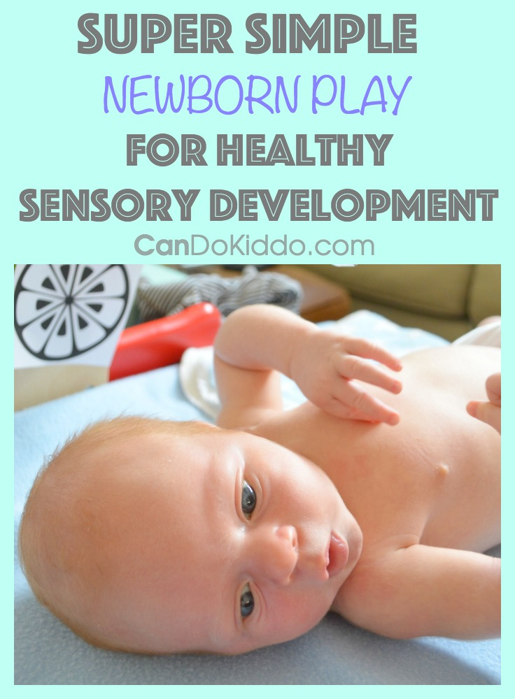 Simple, easy baby play to promote sensory learning. CanDo Kiddo
