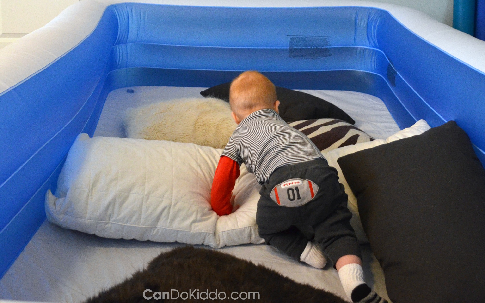 Indoor Obstacle Course For A Crawling Baby. CanDo Kiddo