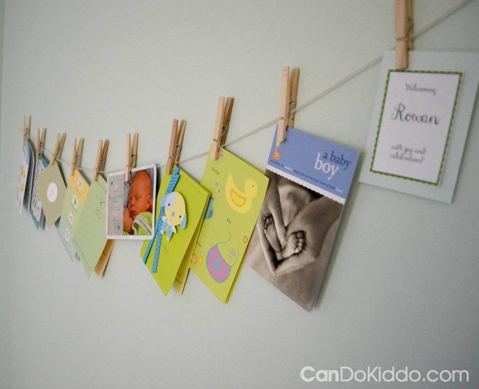 Nursery decor with a purpose - encouraging baby to turn her head to prevent flat spots and neck tightness. CanDo Kiddo