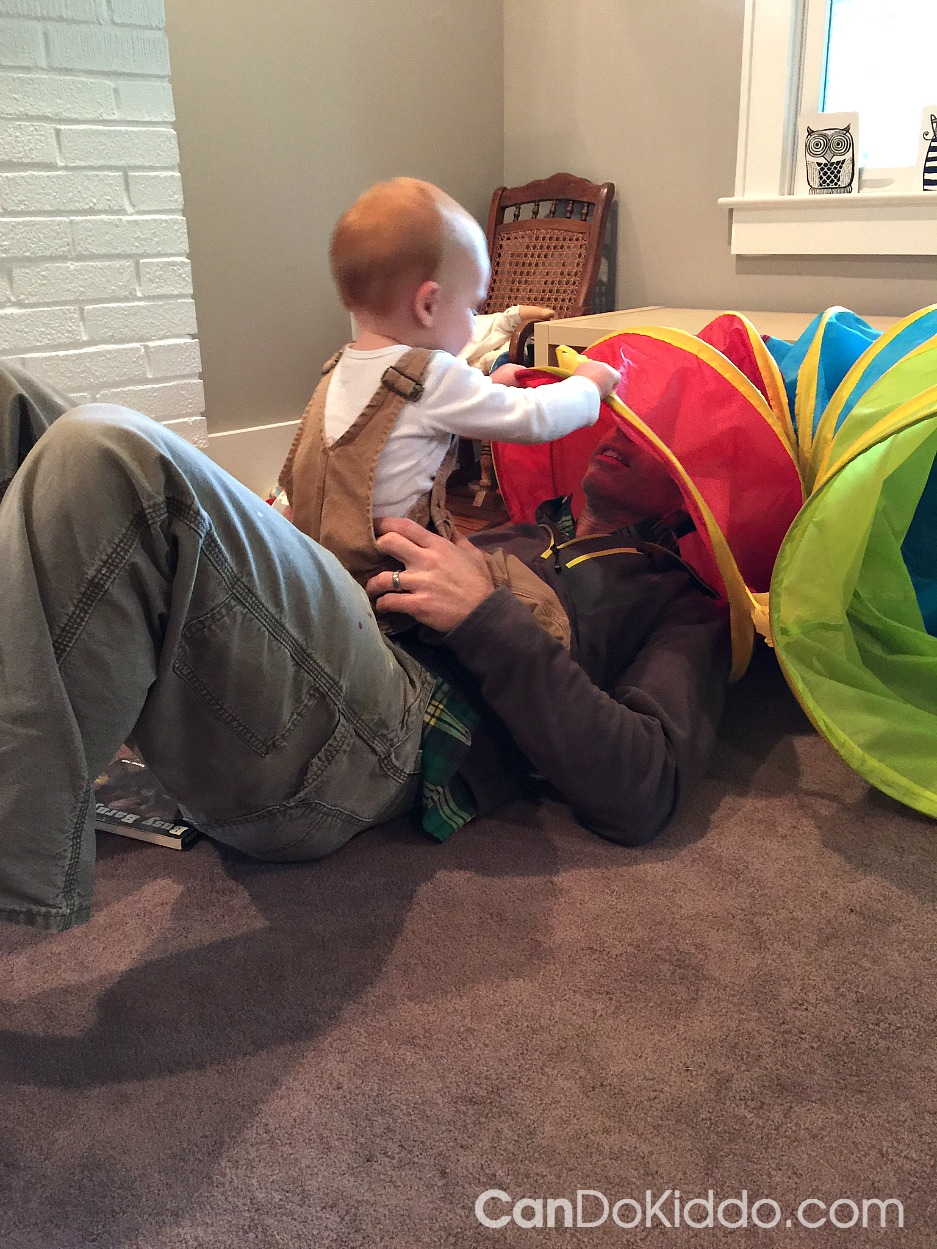 Simple tunnel activities for babies toddlers and preschoolers. CanDo Kiddo