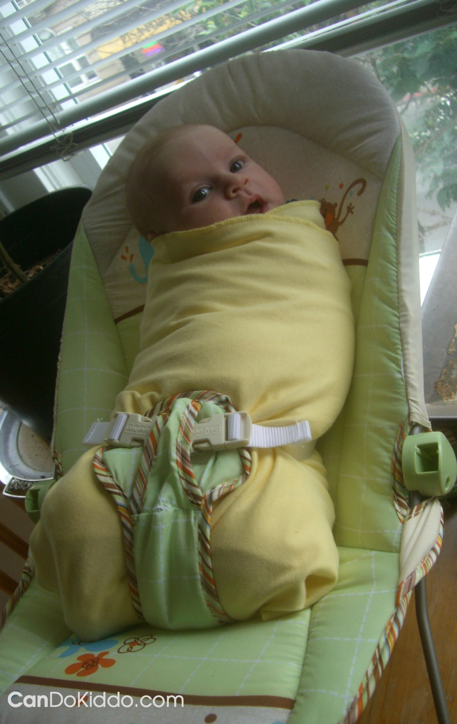 Baby positioning to prevent flat head and torticollis. CanDo Kiddo