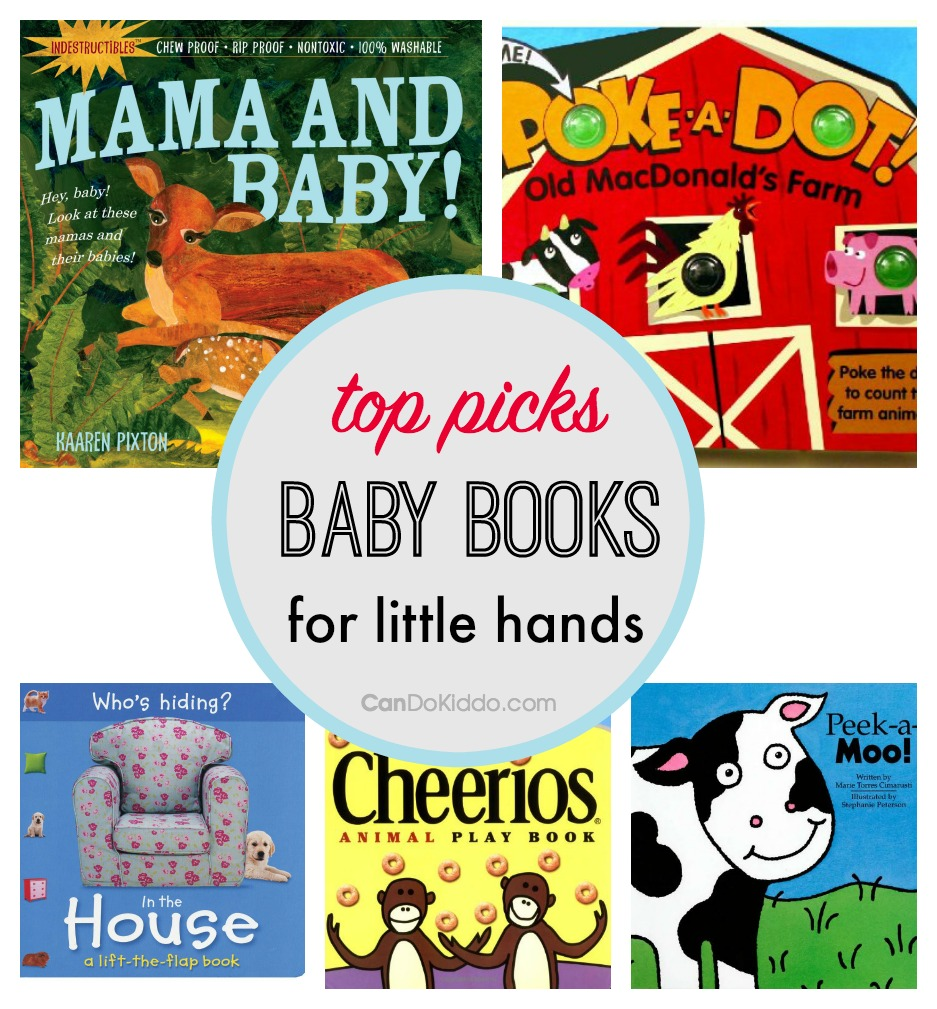 Baby books for little hands - to promote fine motor skills. CanDo Kiddo