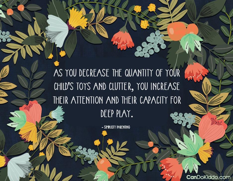 Toy Rotation - decrease clutter - increase play - organize toys. CanDo Kiddo