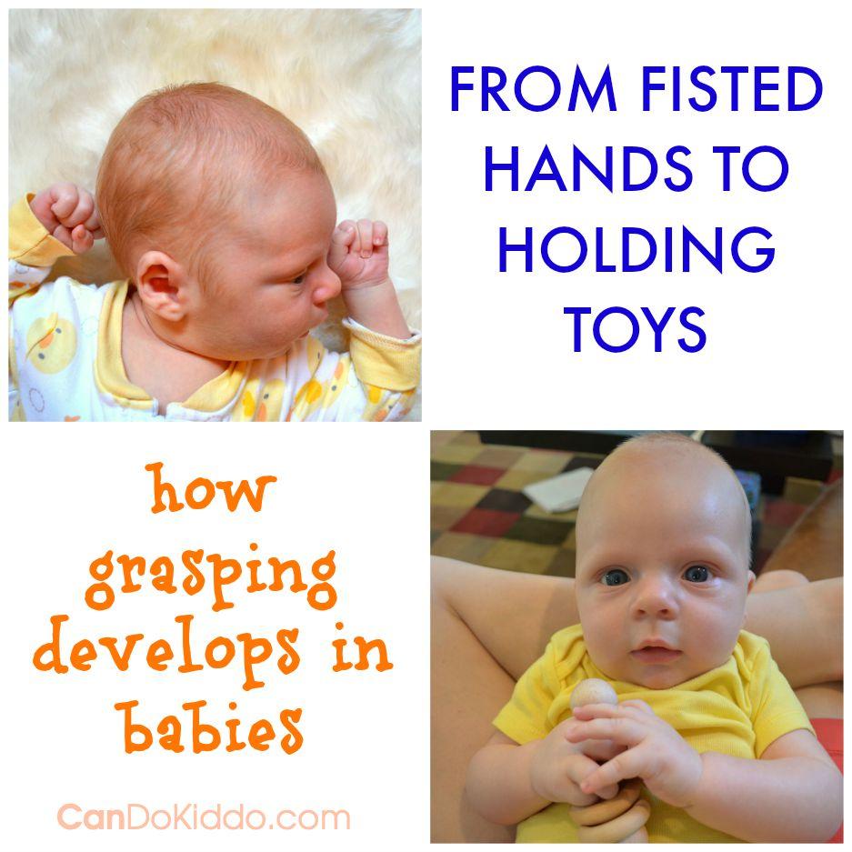 Baby Grasping Milestones and play. CanDoKiddo.com