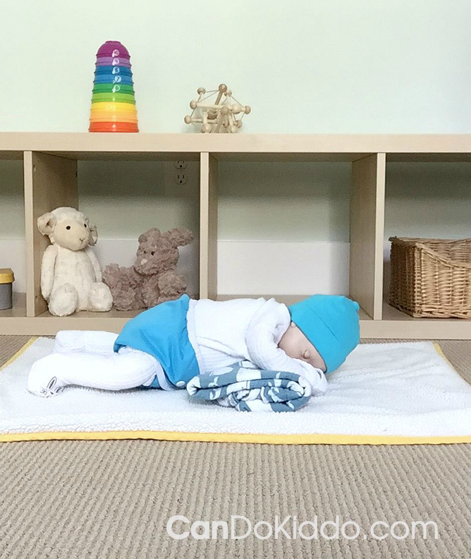Tips for baby Tummy Time in a cloth diaper. CanDoKiddo.com