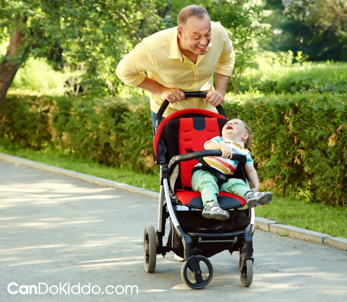 The importance of talking to baby in a stroller. CanDoKiddo.com
