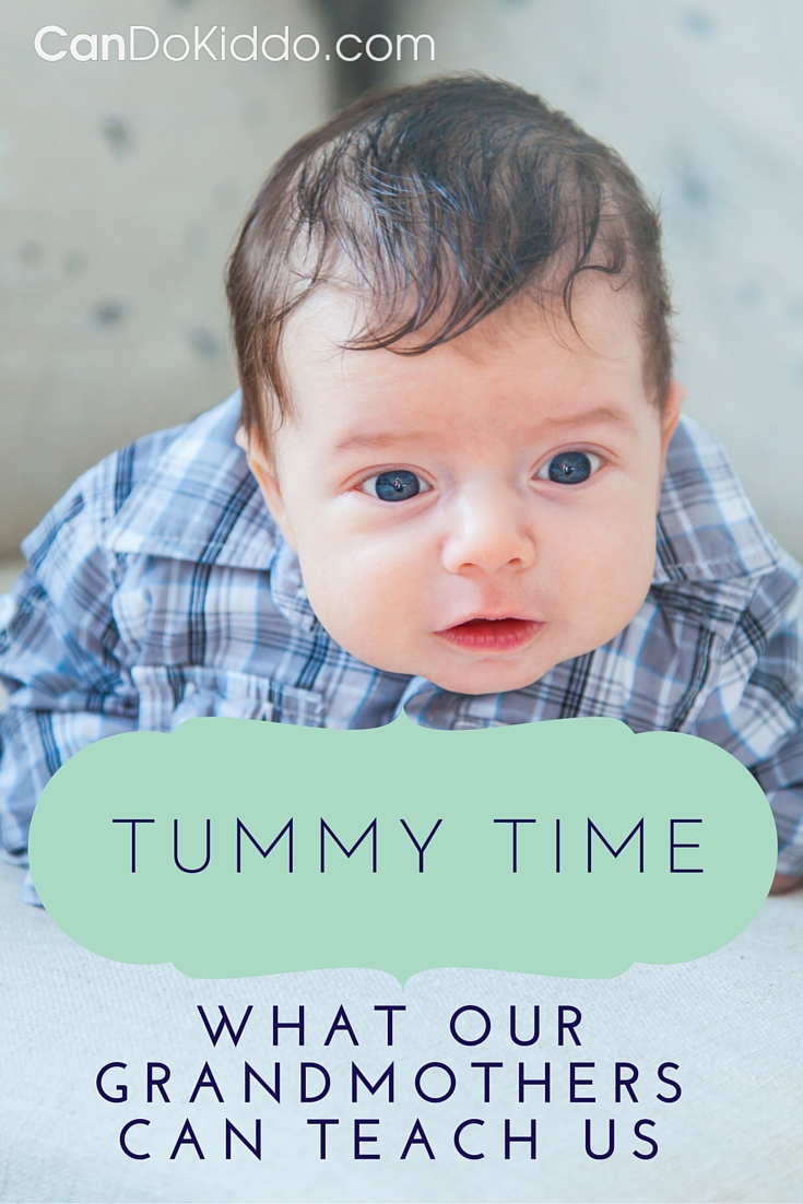 Tummy Time tips for baby - an old school approach. CanDoKiddo.com