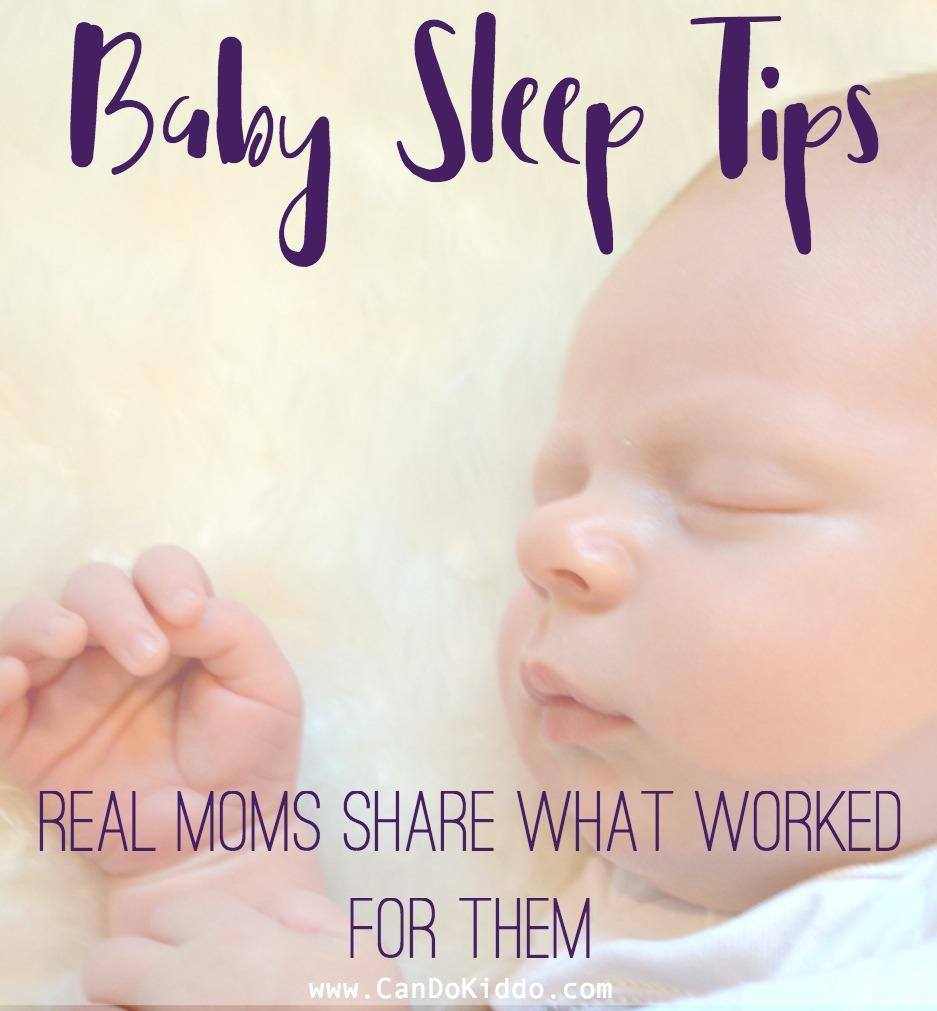 Real moms share their top baby sleep tips. CanDoKiddo.com