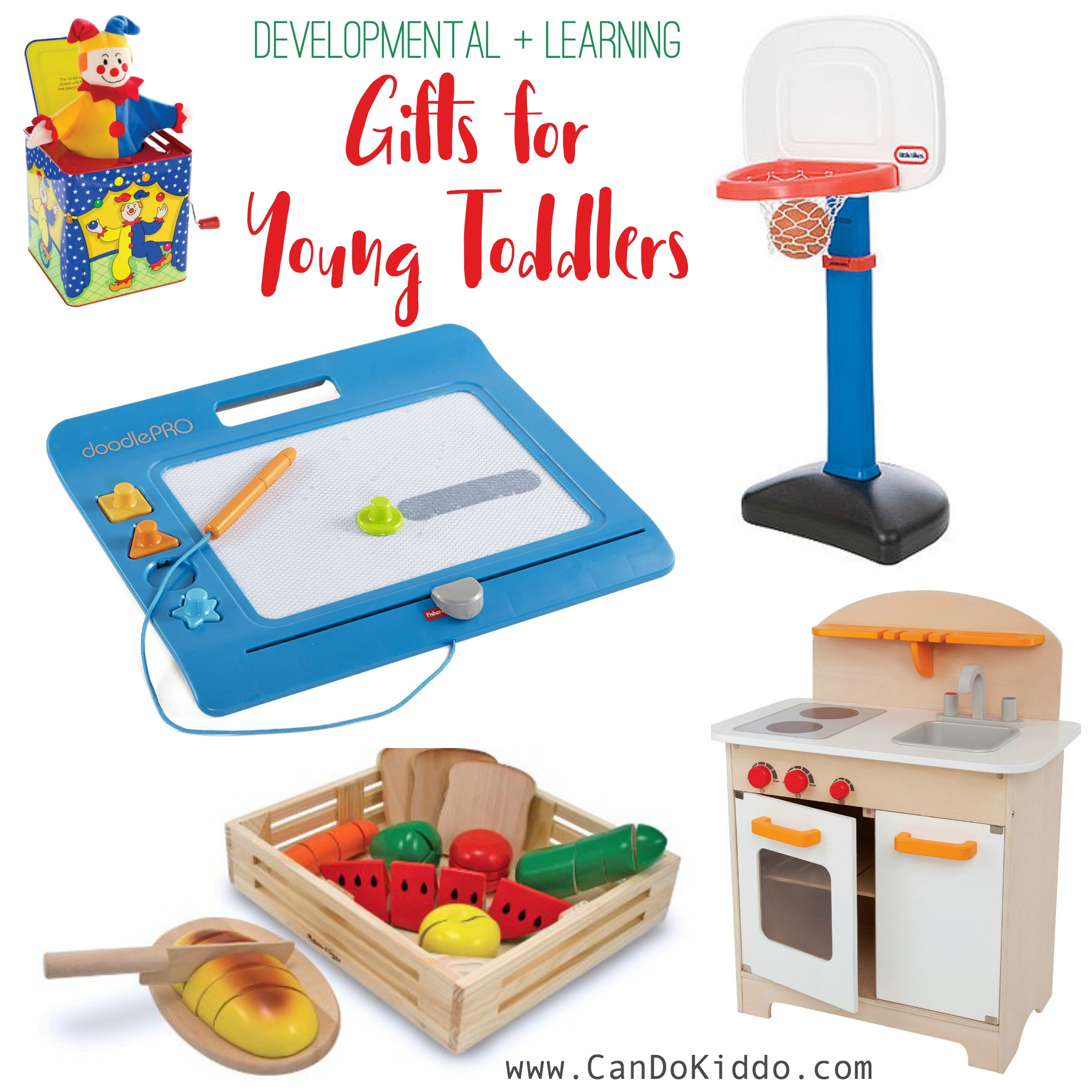 Gift ideas and toys for young toddlers. www.CanDoKiddo.com
