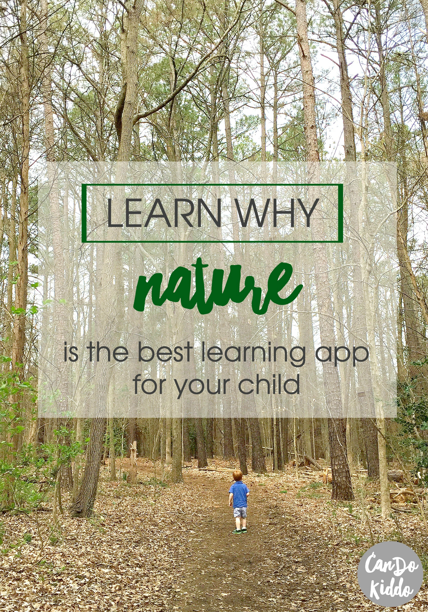 Learn why pediatric OT's think NATURE is the best learning app for small kids. www.CanDoKiddo.com