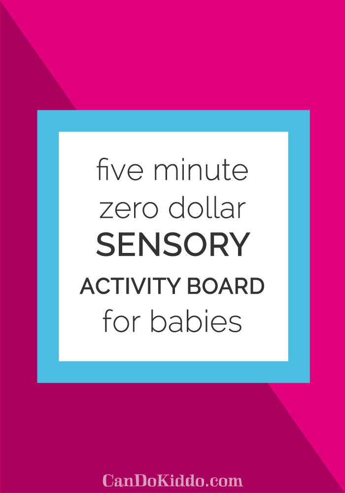 a totally doable DIY developmental toy for your baby. CanDoKiddo.com
