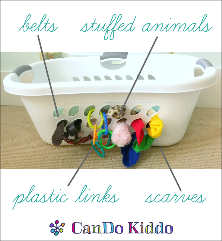 Ridiculously simple and free DIY baby sensory activity board. CanDoKiddo.com