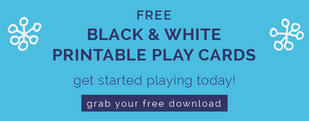 free black and white playcards for baby. candokiddo.com