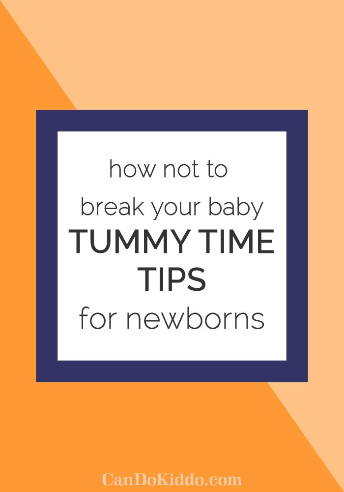 tummy time time for newborns. CanDoKiddo.com