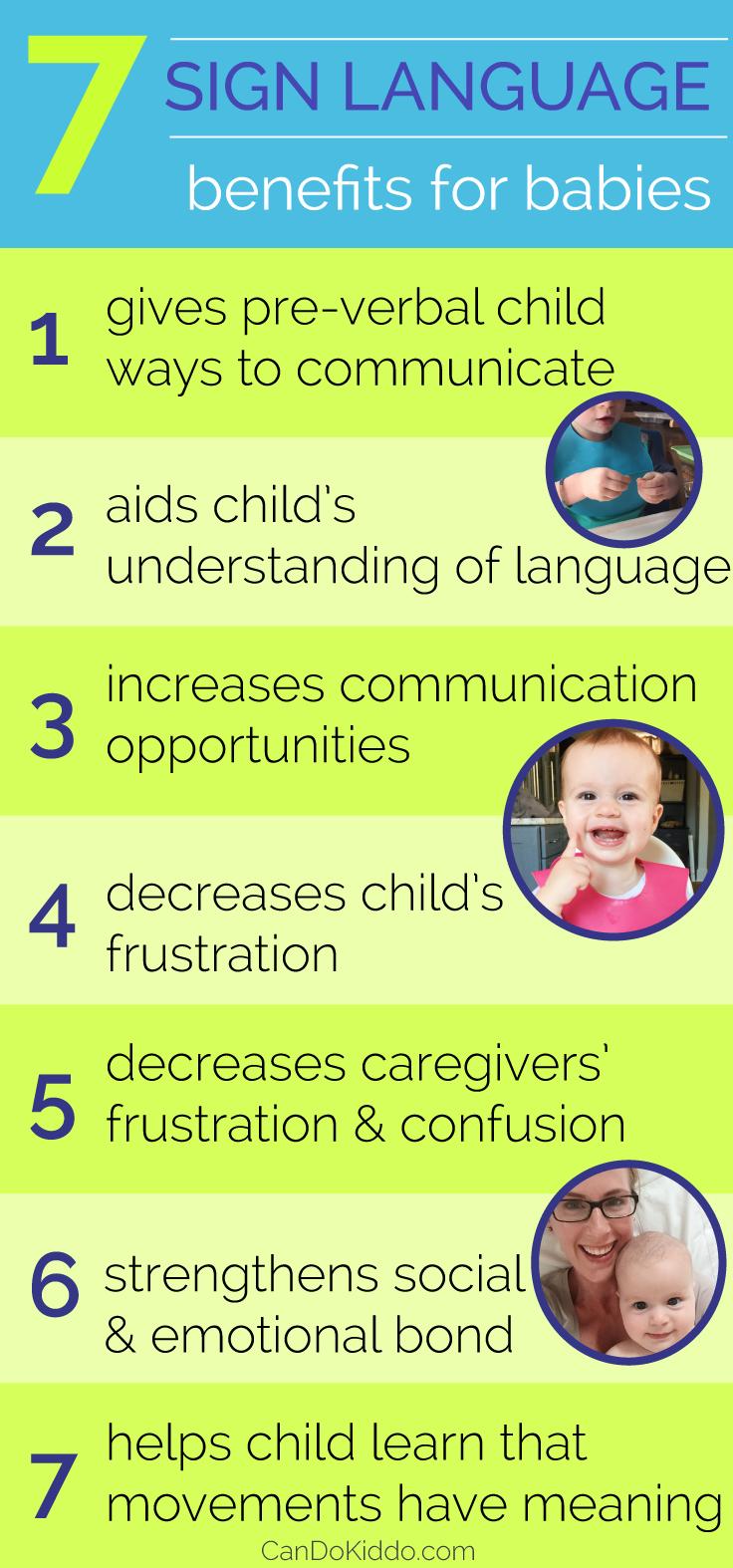 Baby Sign benefits. CanDoKiddo.com