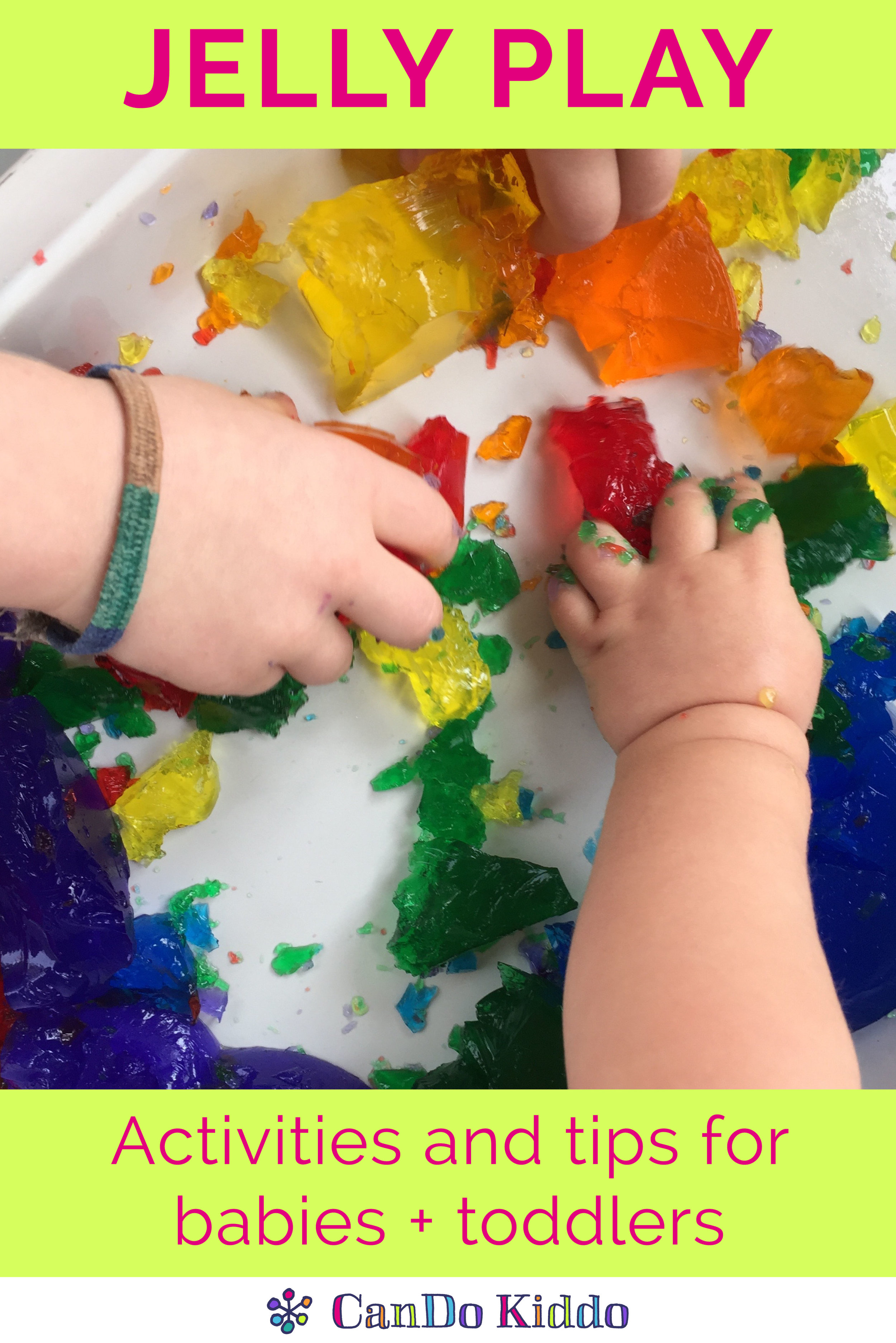 Jello gelatin jelly play for babies and toddlers.